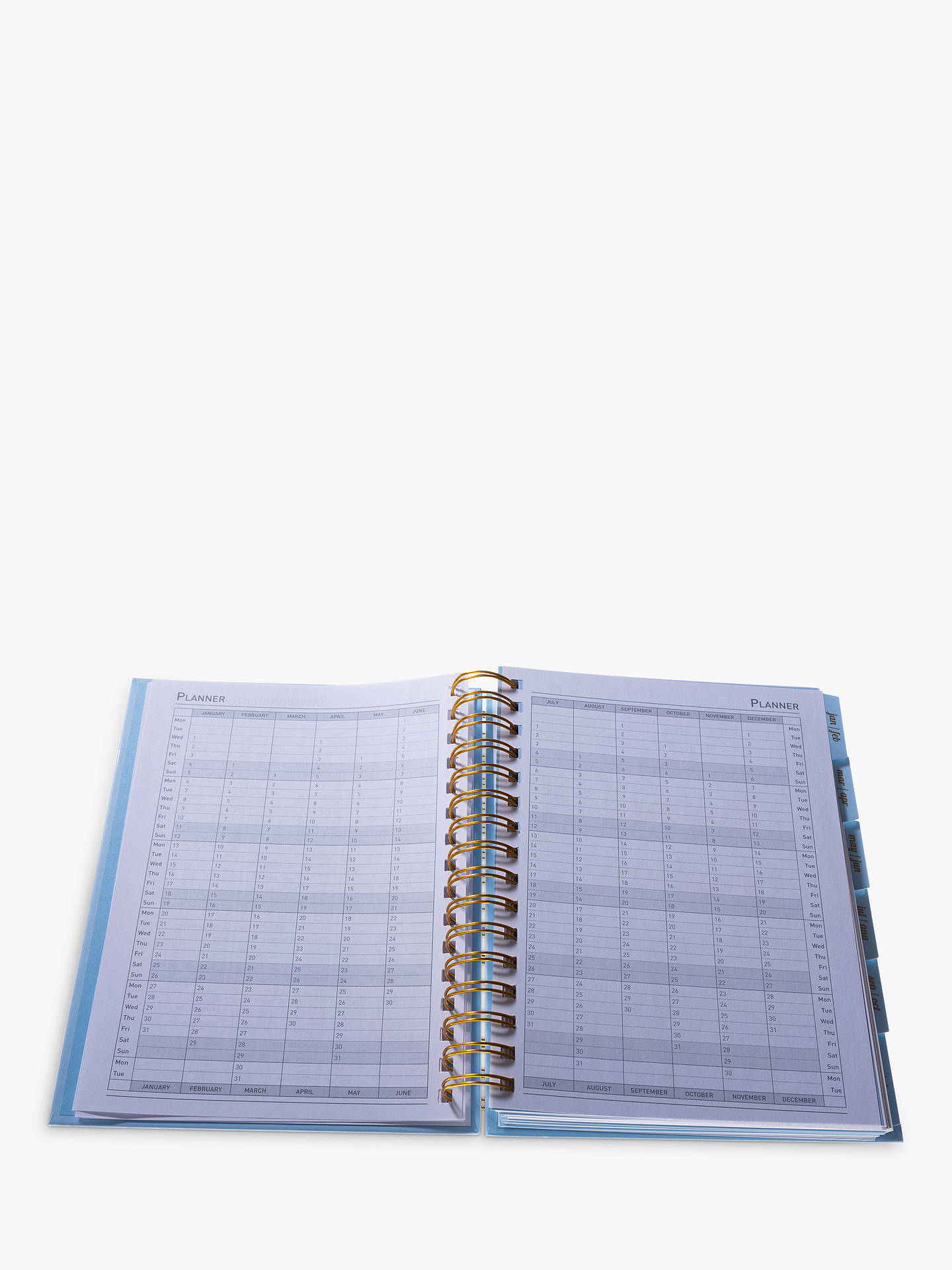 Buy Collins Scandi A5 Mid Year Academic Diary 2020-21, Blue Online at johnlewis.com