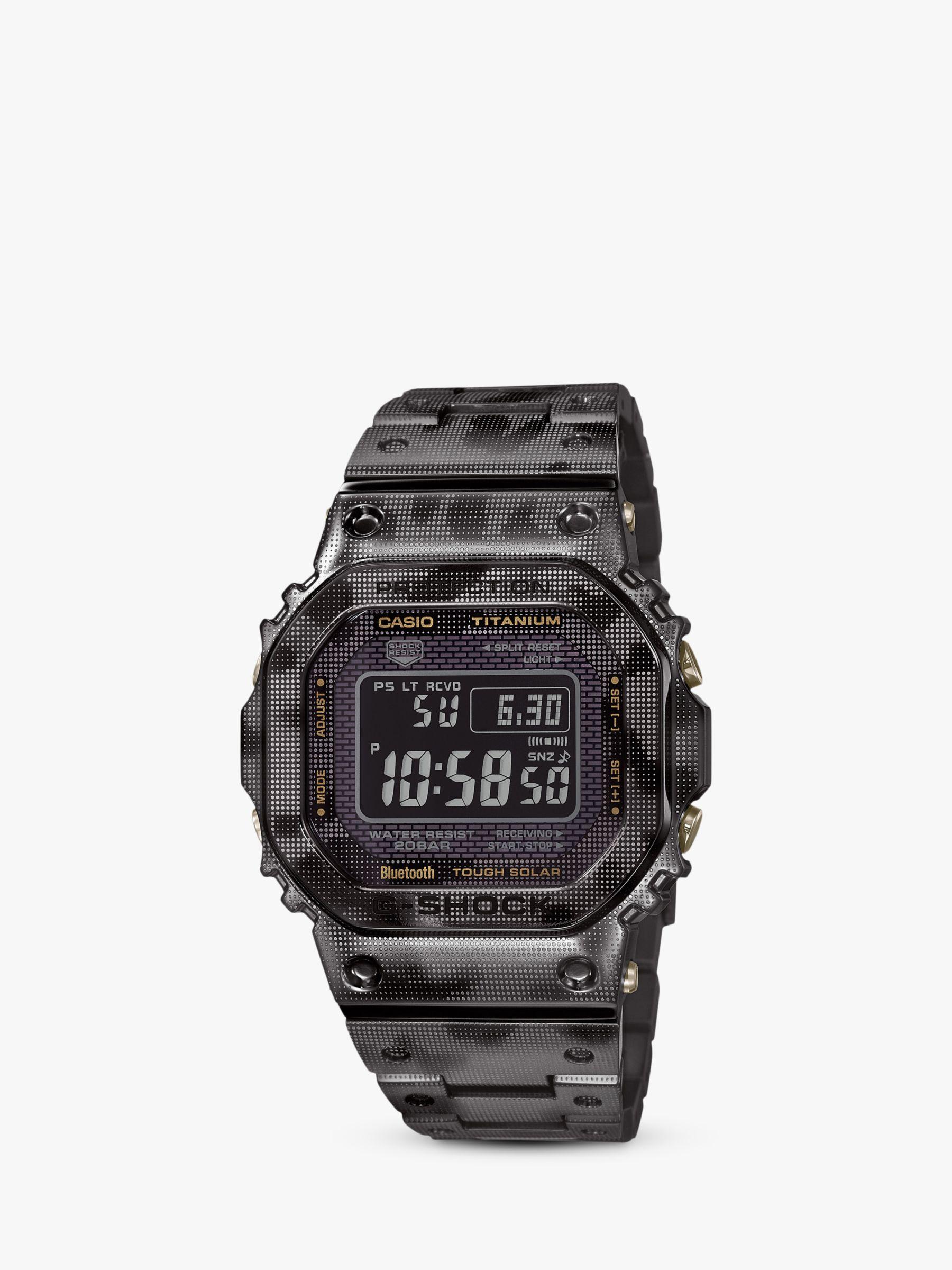 Casio Casio GMW-B5000TCM-1ER Men's G-Shock Titanium Bracelet Strap Watch, Camouflage Grey/Black