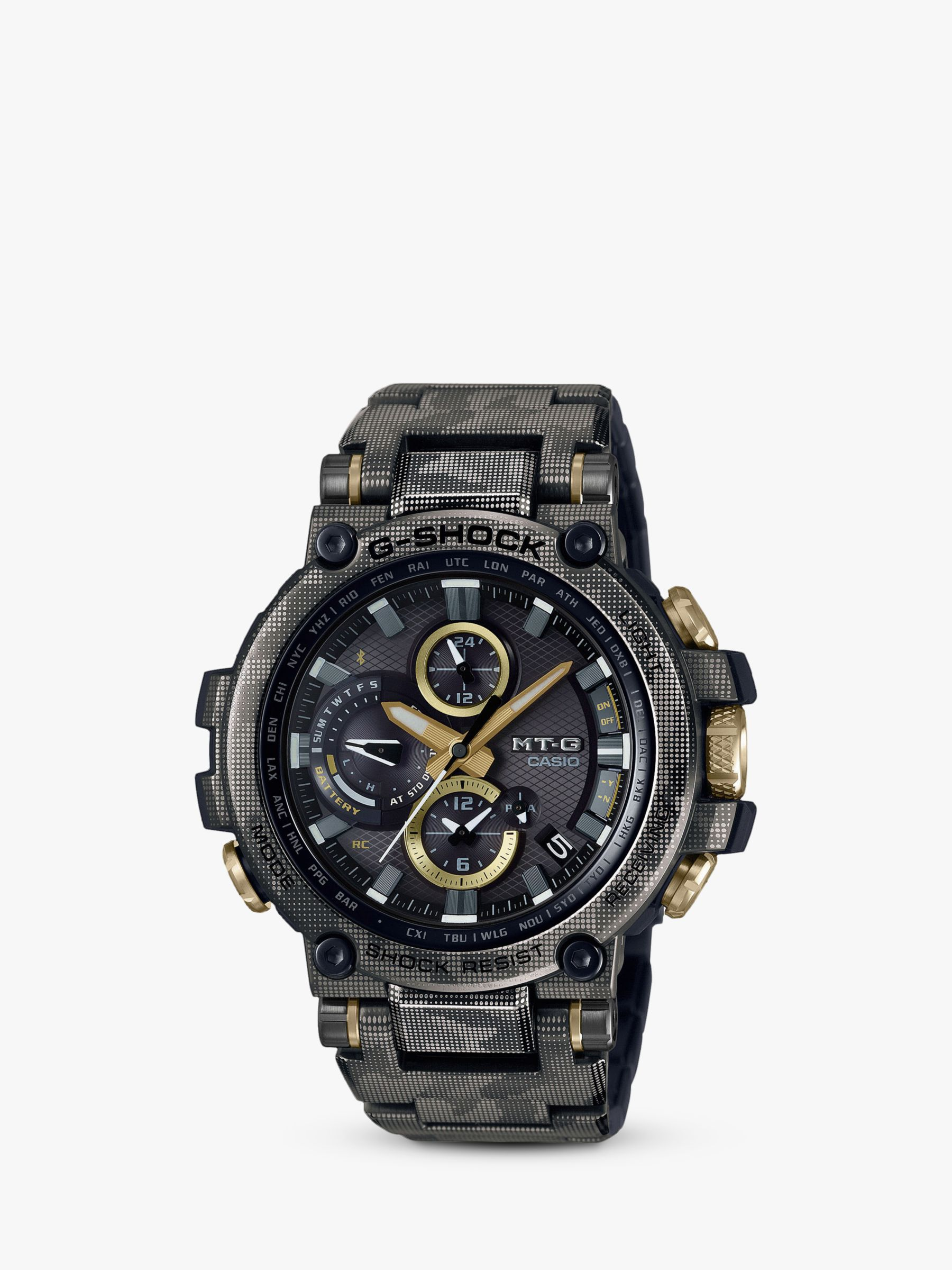 Casio Casio MTG-B1000DCM-1AER Men's G-Shock Bracelet Strap Watch, Camouflage Grey/Black