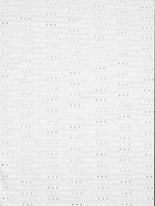 Litmans Cut Out Spot Fabric, White