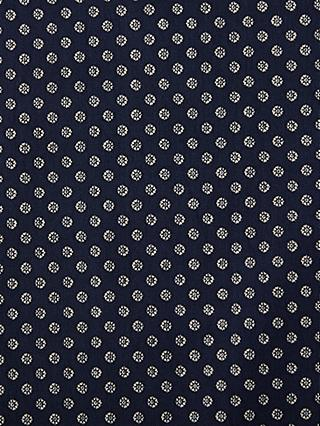 Litmans Mini Circles Chambray Fabric, Blue