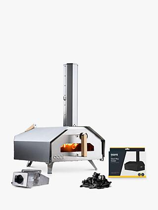 Ooni Pro Large Multi Fuel Outdoor Pizza Oven, Cover, Gas Burner & Charcoal Bundle