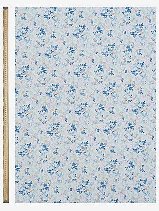 Kokka Garden Stem Print Fabric, Blue