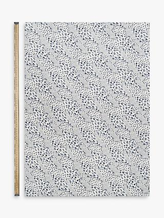 Kokka Ink Animal Print Fabric, White/Navy