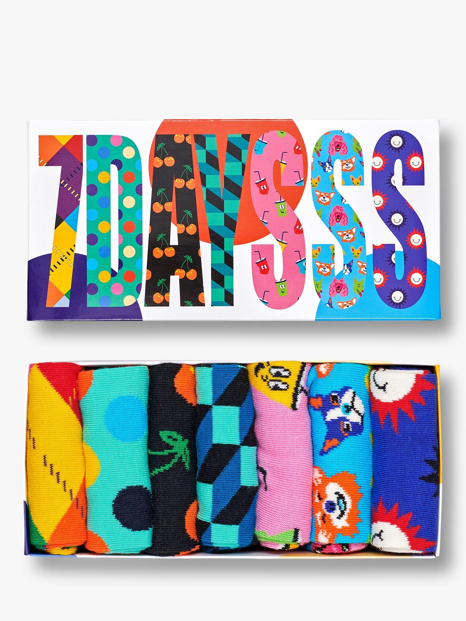 Happy Socks Happy Socks 7 Days Gift Box, Pack of 7, One Size