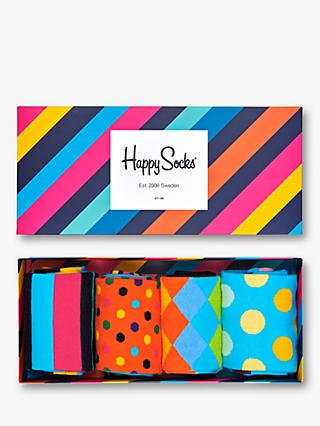 Happy Socks Classics Sock Gift Box, Pack of 4, One Size