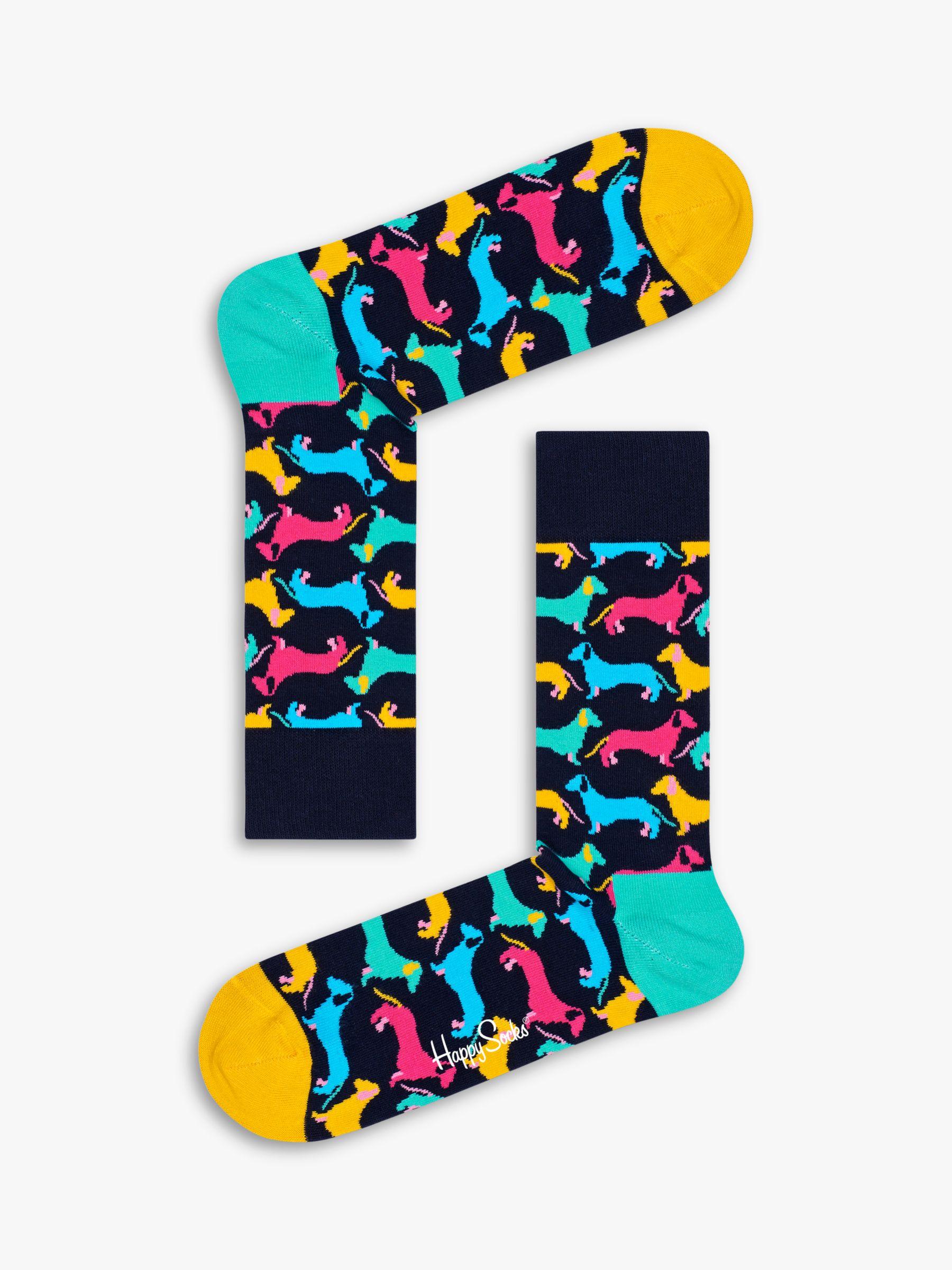 Happy Socks Happy Socks Dachshund Socks, One Size, Black