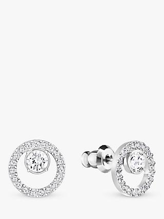 Swarovski Creativity Crystal Pave Round Stud Earrings, Silver