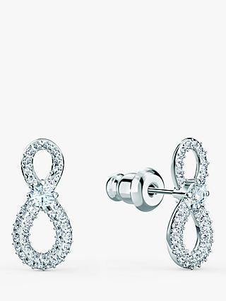 Swarovski Infinity Crystal Stud Earrings, Silver