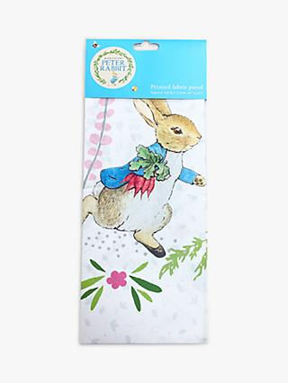 Visage Textiles Peter Rabbit Panel Print Cotton Fabric, Multi