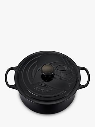 Le Creuset Cast Iron Star Wars Darth Vader Round Casserole, 26cm, Black