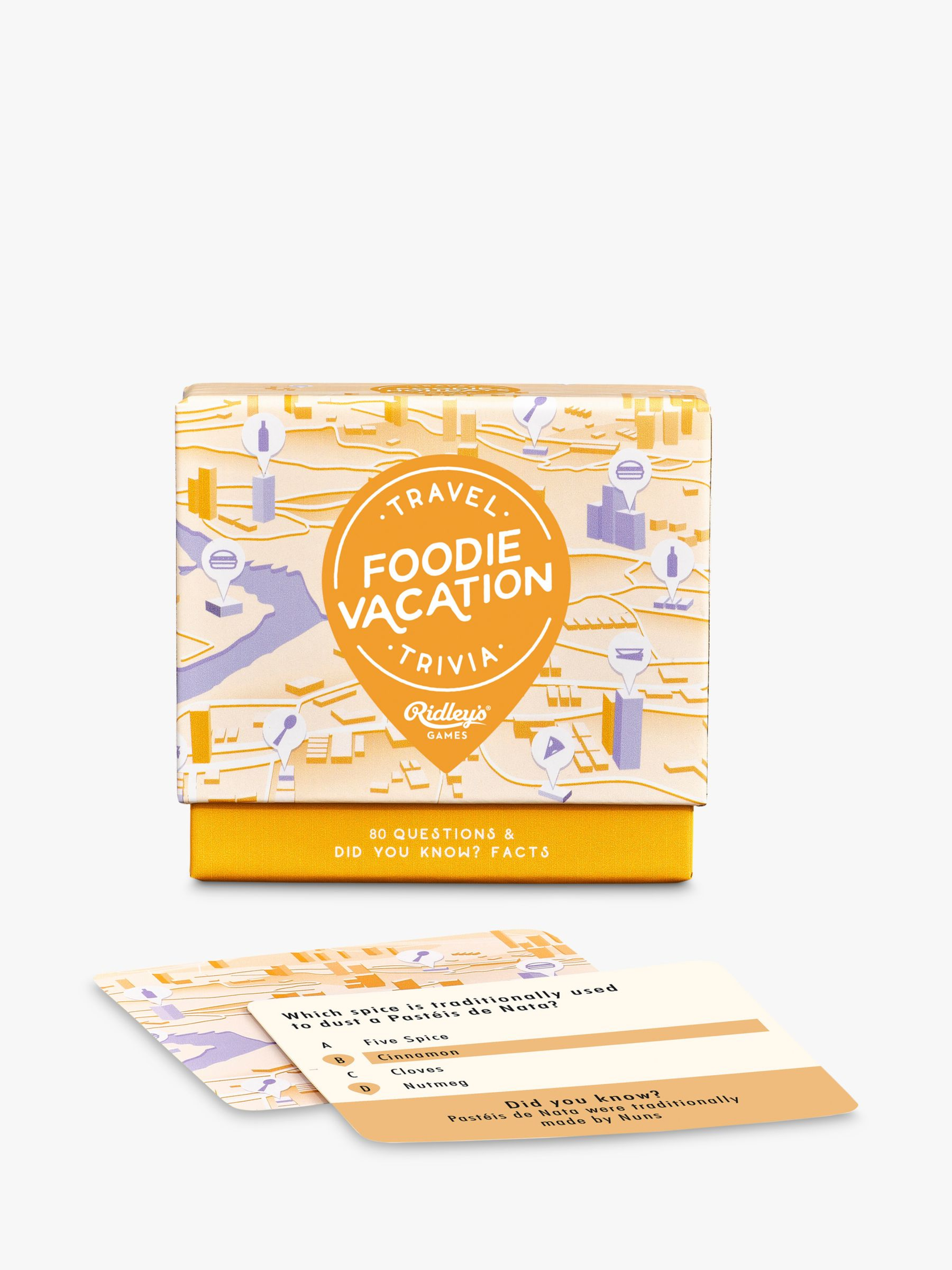 Ridley's Ridleys Food Vacation Trivia Game