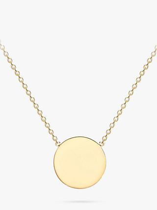 IBB Personalised 9ct Gold Single Disc Pendant Necklace