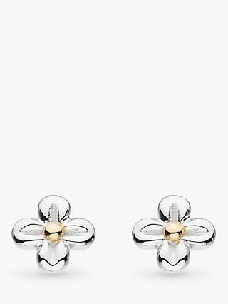 Kit Heath Bee Flower Stud Earrings, Silver/Gold