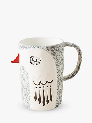 Anthropologie Lazlo Bird Mug, 284ml, White