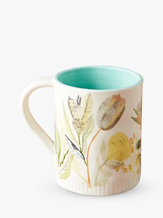 Anthropologie Michelle Morin Mug, 319ml, Green/Multi