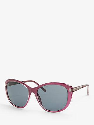 John Lewis & Partners Women's Soft Square Sunglasses, Purple/Grey