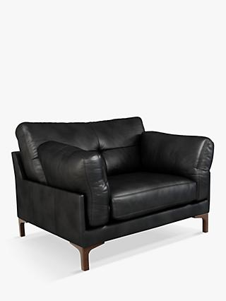 John Lewis & Partners Java II Leather Armchair, Dark Leg