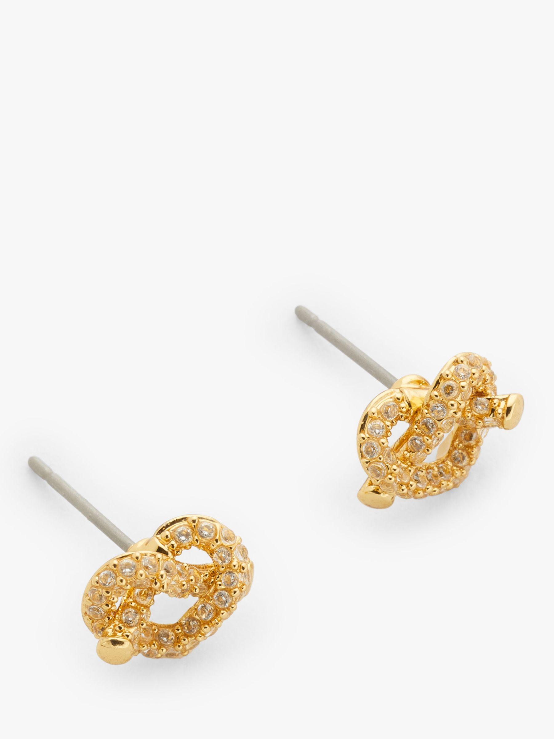 kate spade new york kate spade new york Loves Me Knot Stud Earrings, Gold