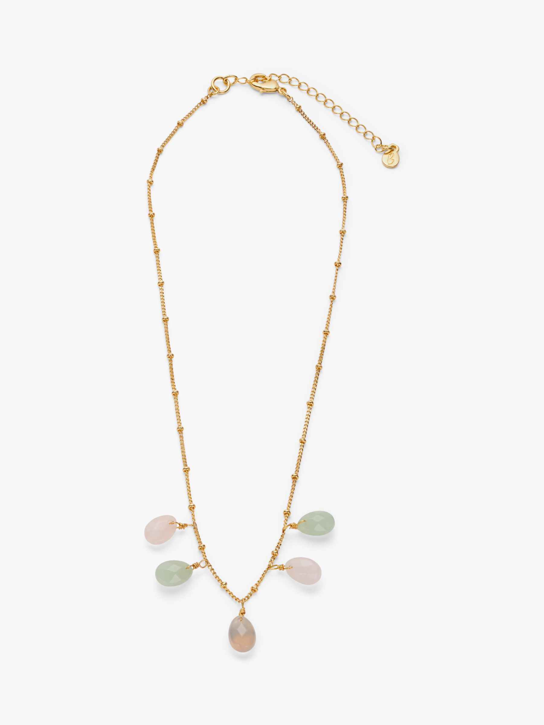 Boden Boden Semi Precious Stones Necklace, Gold