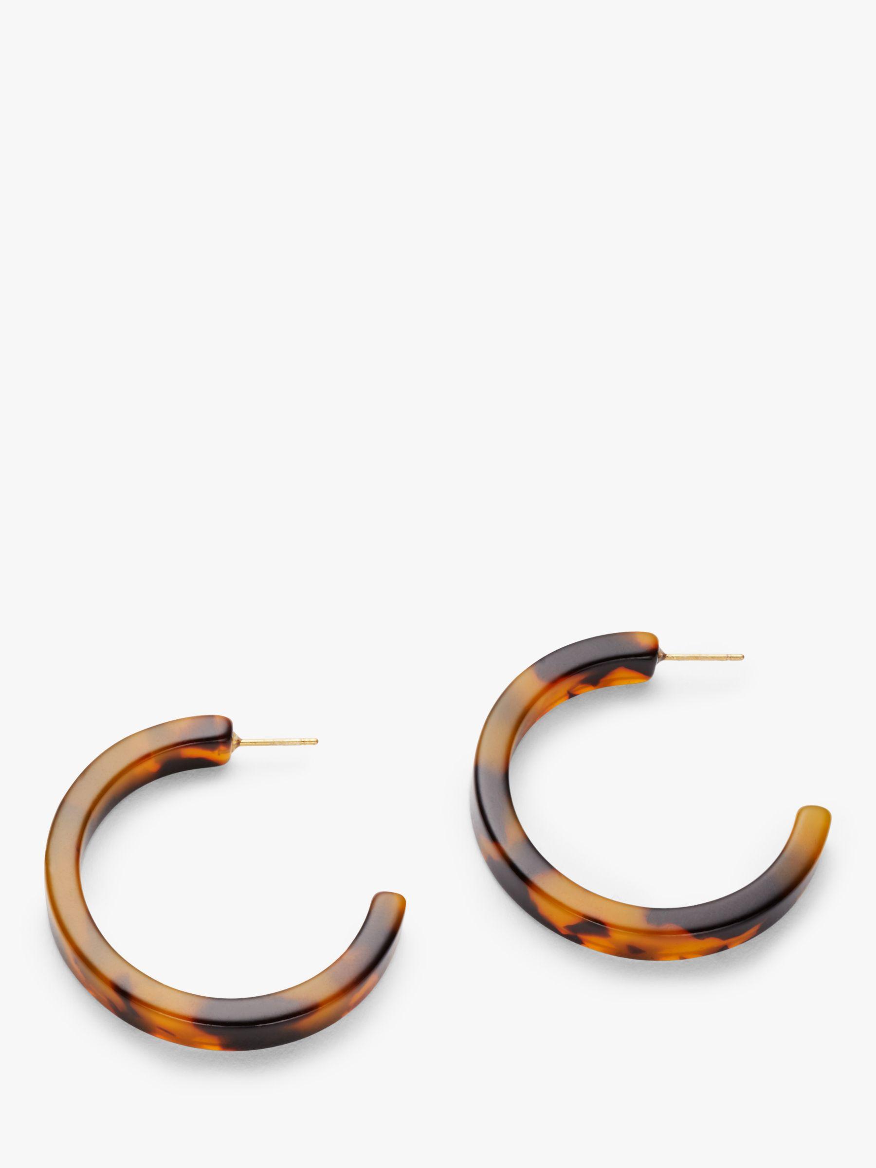 Boden Boden Resin Hoop Earrings, Tortoise