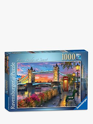 Ravensburger Tower Bridge at Sunset Jigsaw Puzzle, 1000 Pieces
