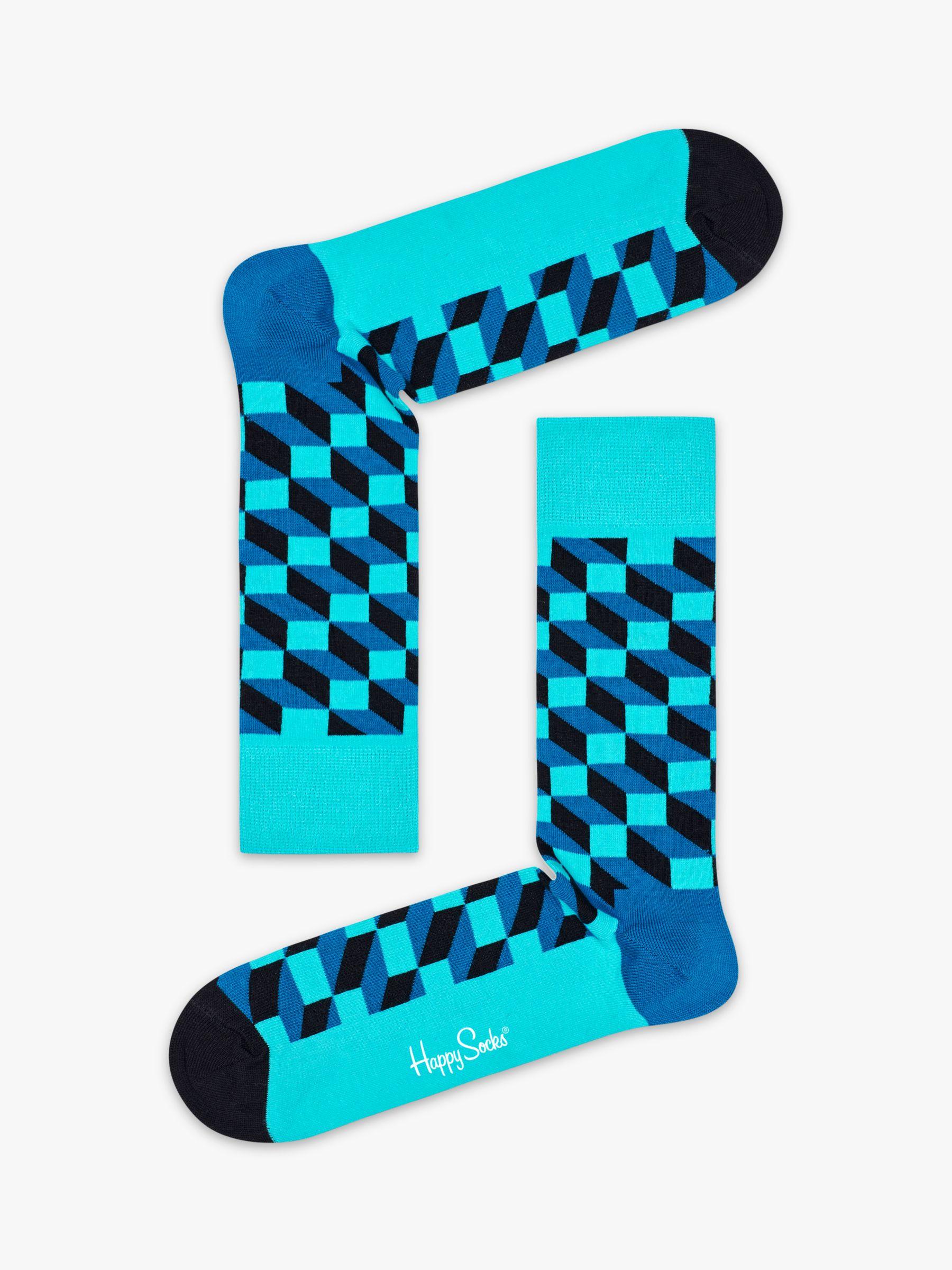 Happy Socks Happy Socks Filled Optic Socks, One Size, Blue