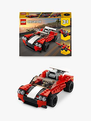 LEGO Creator 31100 3 in 1 Sports Car - Hot Rod - Old Time Plane