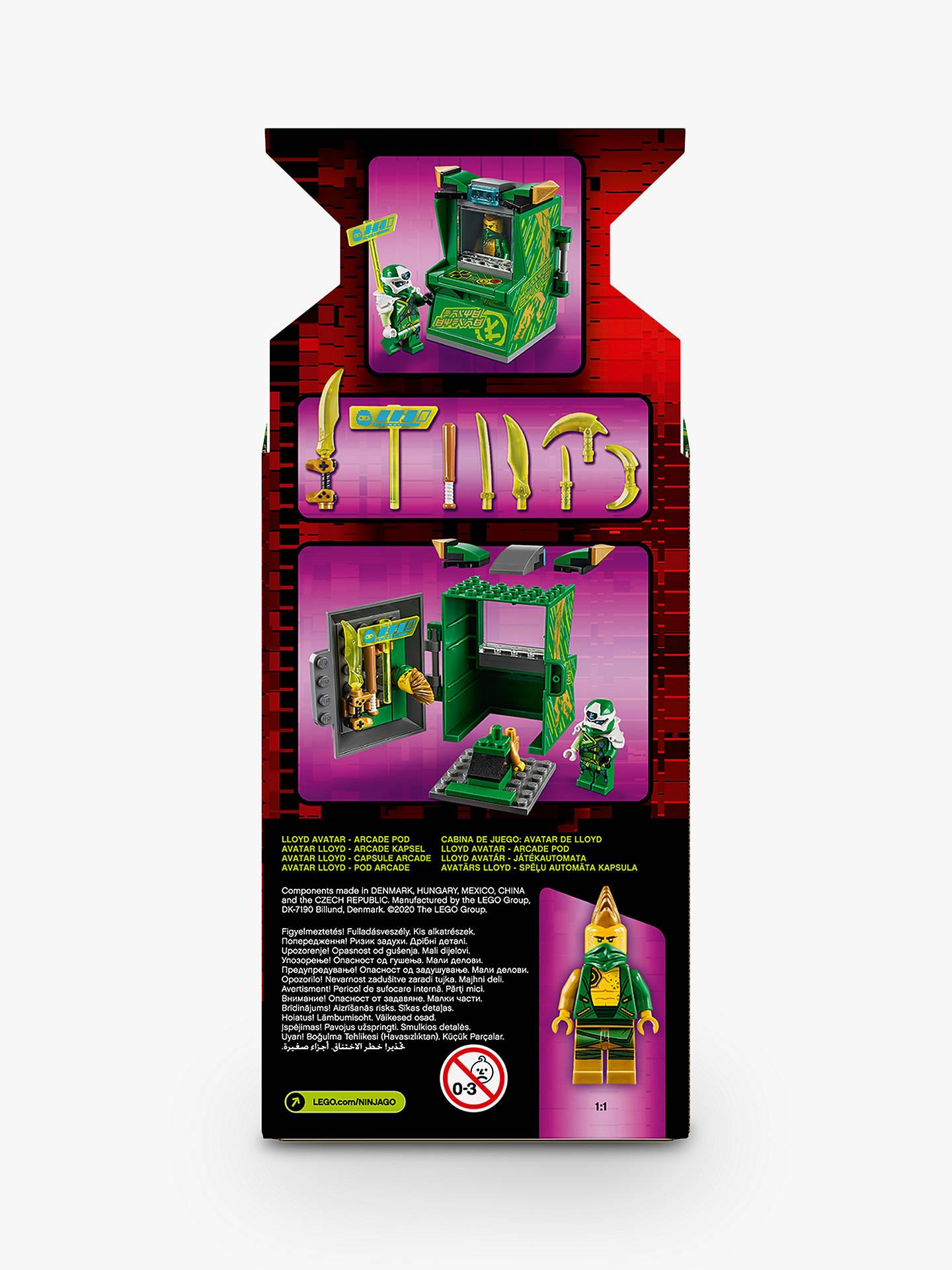 LEGO Ninjago 71716 Lloyd Avatar Arcade Pod at John Lewis ...