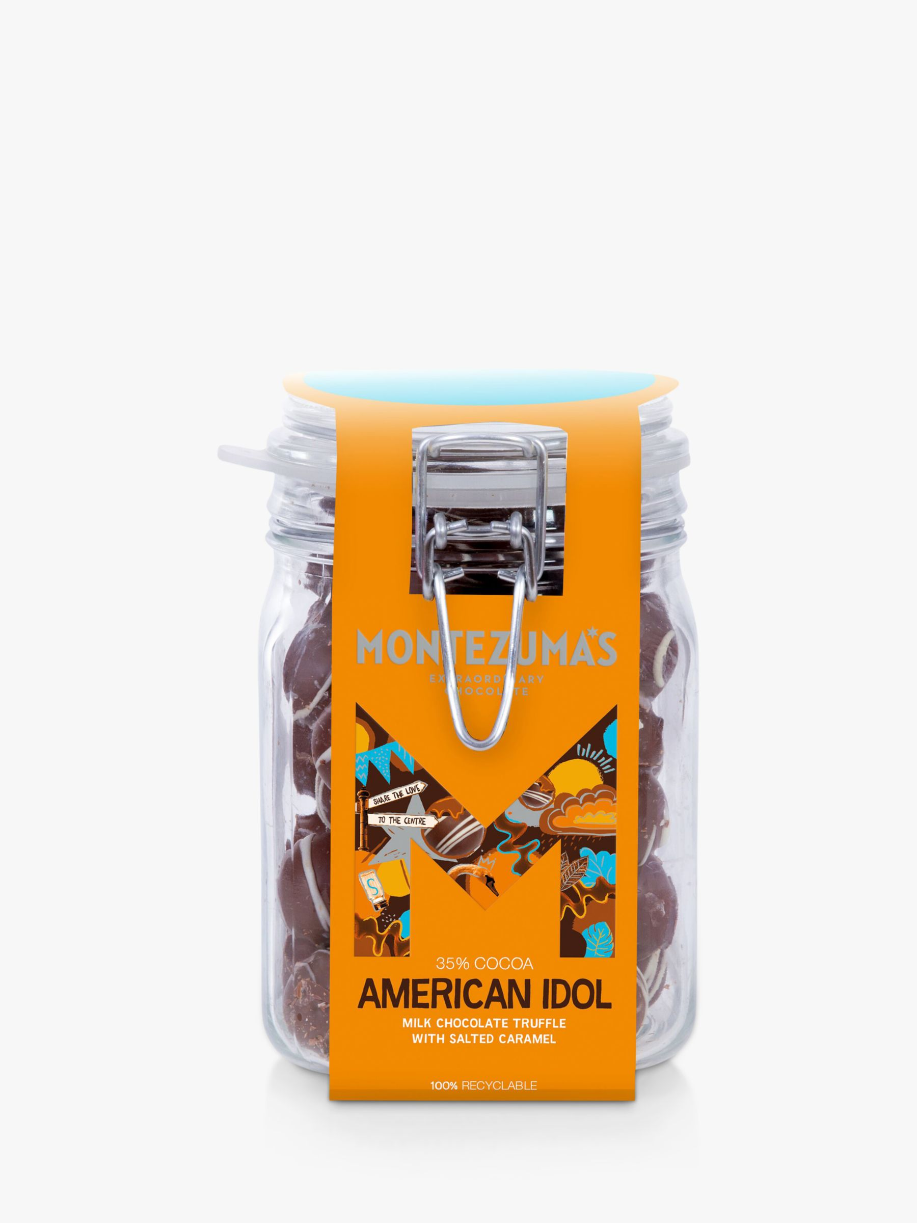 Montezuma's Montezuma's American Idol Milk Chocolate with Salted Caramel Truffle Jar, 600g