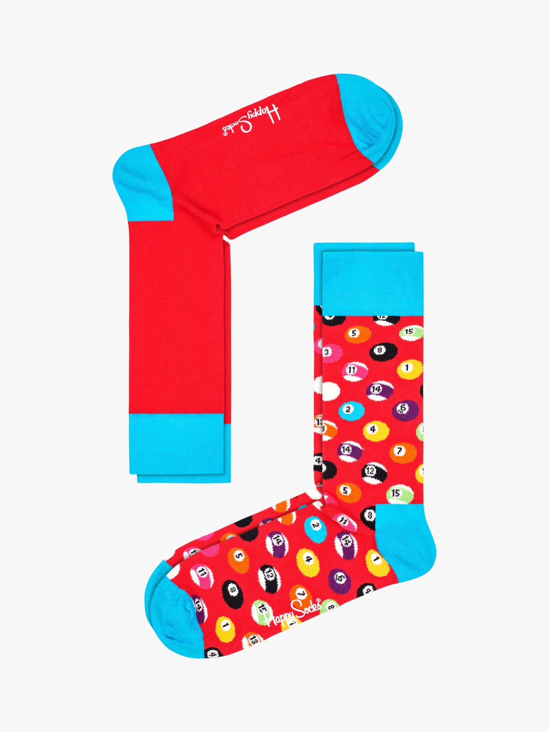 Happy Socks Happy Socks Pool Socks, One Size, Pack of 2, Red/Multi