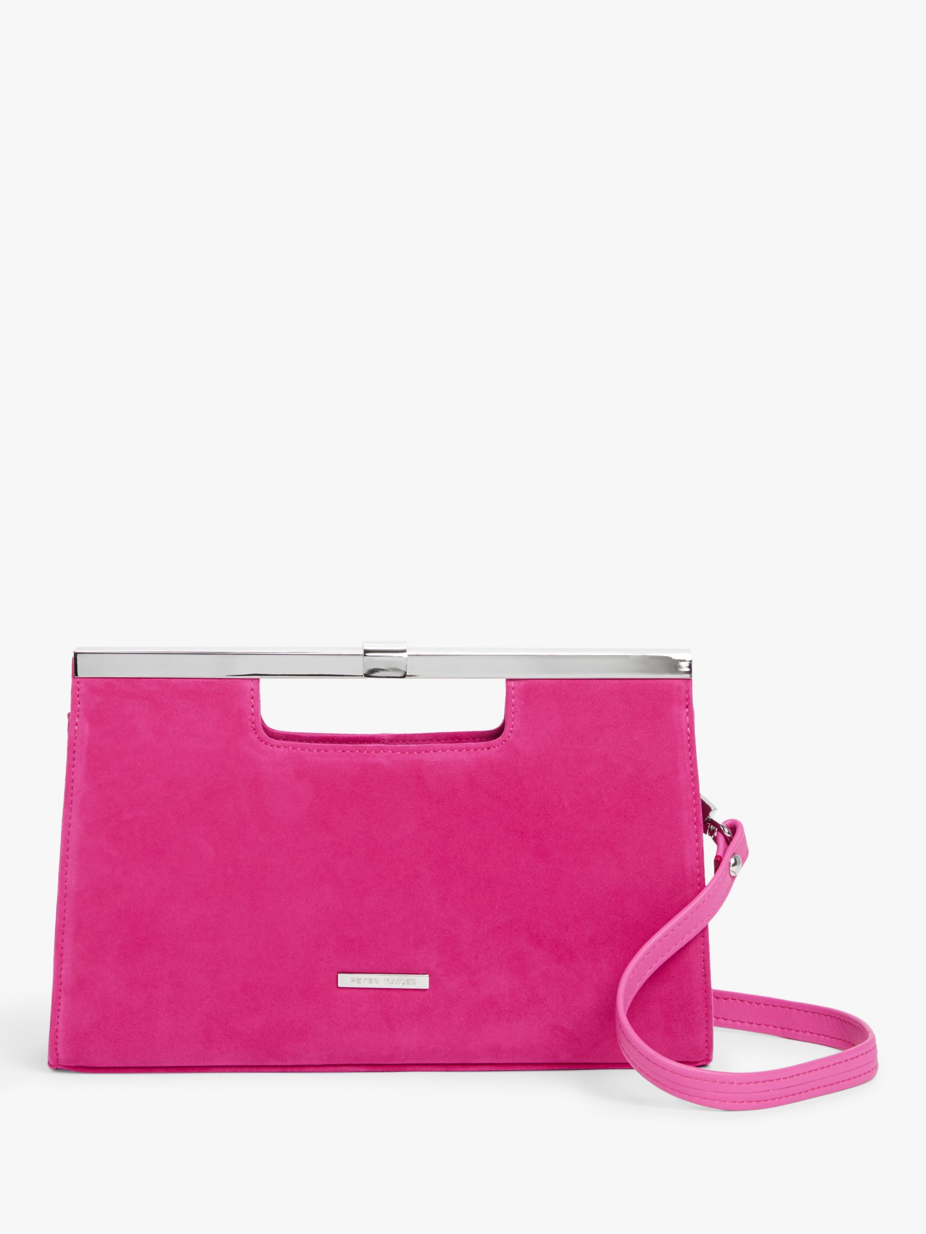 Peter Kaiser Peter Kaiser Wye Suede Clutch Bag, Berry