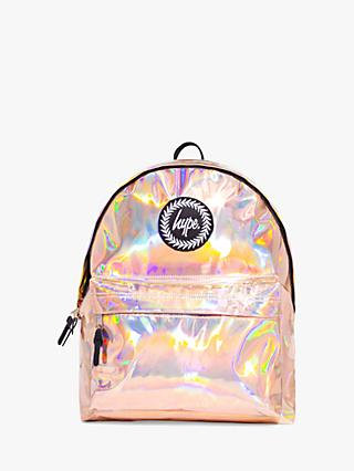Hype Children's Holographic Backpack, Rose Gold