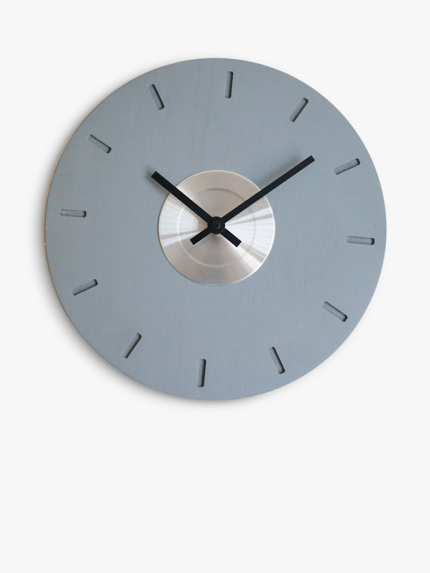 Brookpace Brookpace Modern Centre Disc Wood Wall Clock, 30cm, Grey