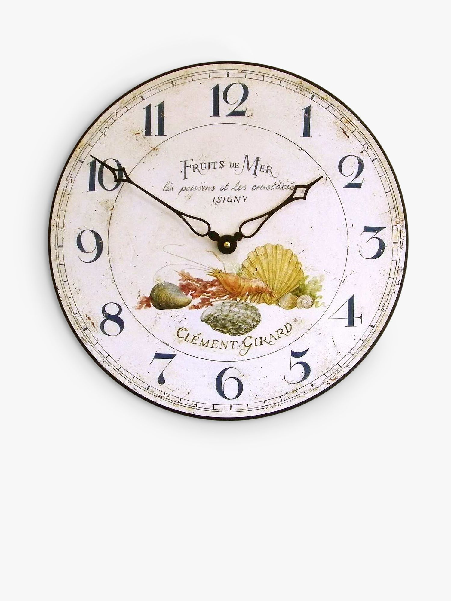Brookpace Brookpace Fruits De Mer Wall Clock, 36cm