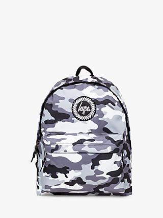Hype Children's Camo Backpack, Black/White