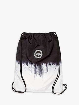 Hype Children's Mono Drawstring Backpack, Black/White