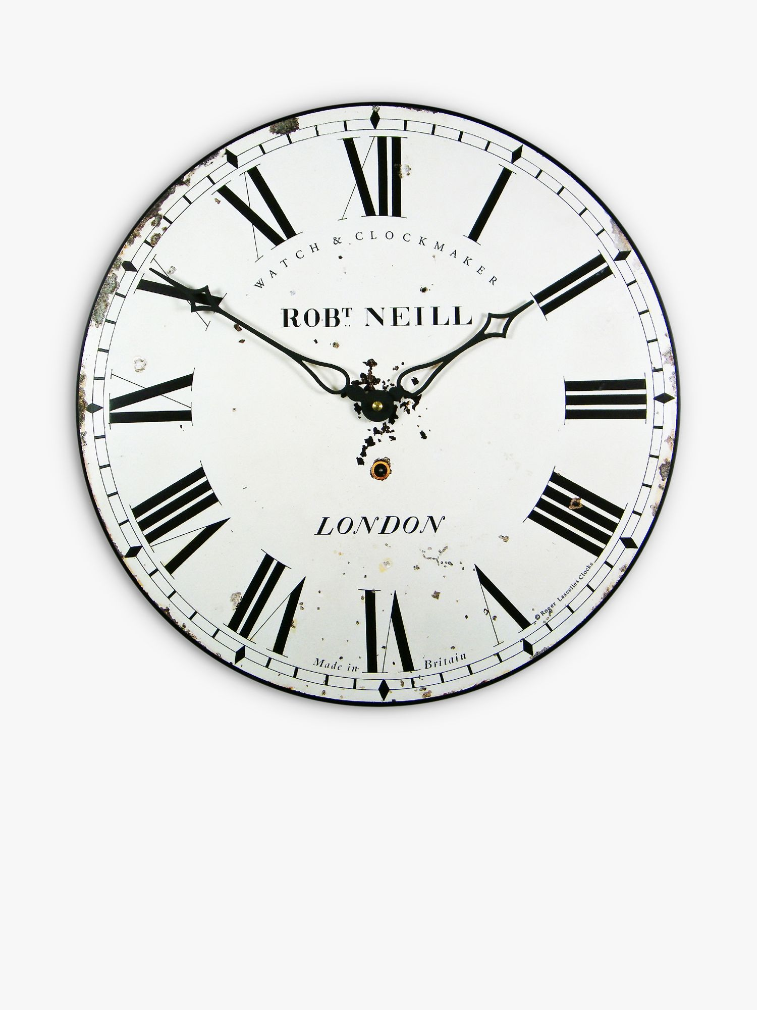 Brookpace Brookpace London Clockmaker Wall Clock, 36cm, White
