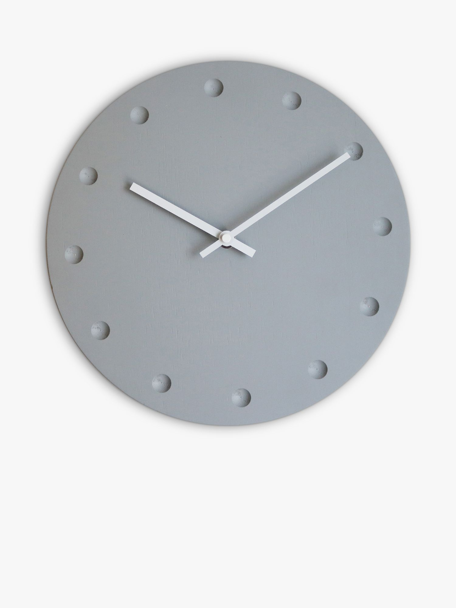 Brookpace Brookpace Modern Wood Wall Clock, 30cm, Grey