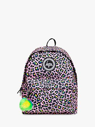 Hype Children's Leopard Backpack, Pink
