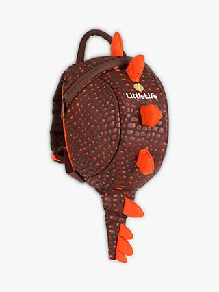 LittleLife Dinosaur Turtle Backpack, Brown