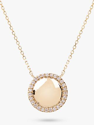 Emily Mortimer Jewellery 14ct Gold Diamond Round Pendant Necklace, Gold