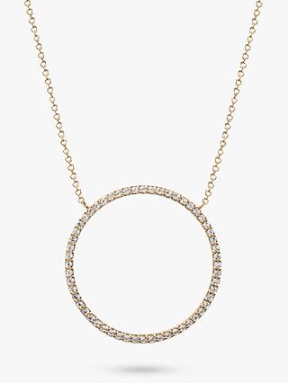 Emily Mortimer Jewellery 9ct Gold Topaz Circle Pendant Necklace
