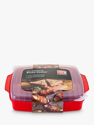 good2heat PLUS Microwave Bacon Crisper, Red/Clear