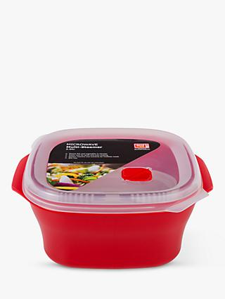good2heat PLUS Microwave Lidded Multi-Steamer, 2.6L, Red/Clear