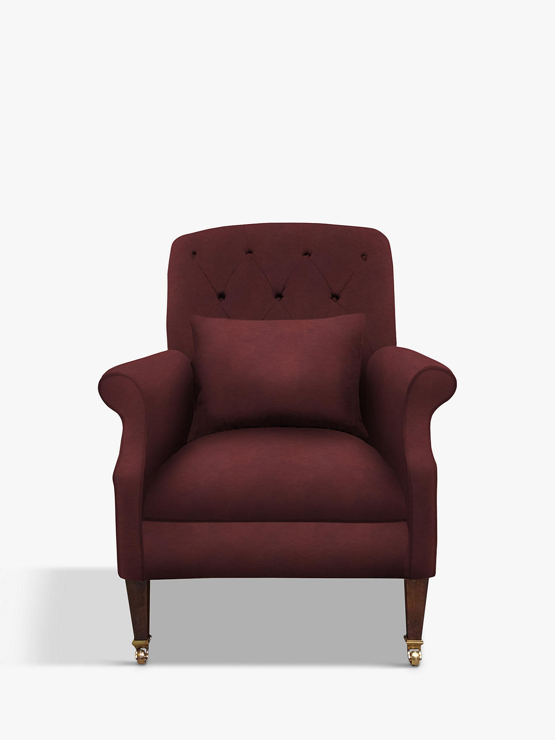Buy Tetrad Flynn Leather Armchair, Highland Hickory Online at johnlewis.com