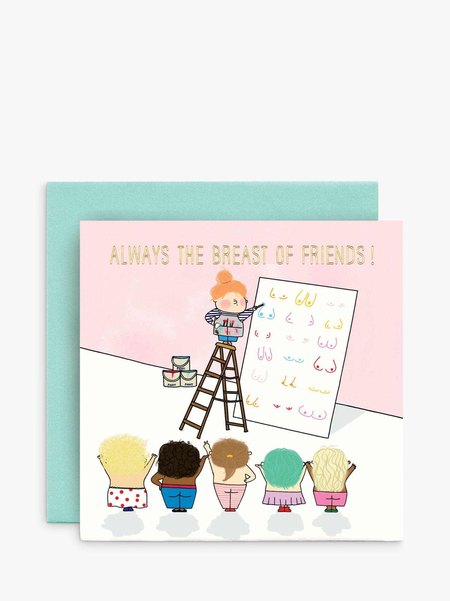 Susan O'Hanlon Susan O'Hanlon Breast of Friends Birthday Card