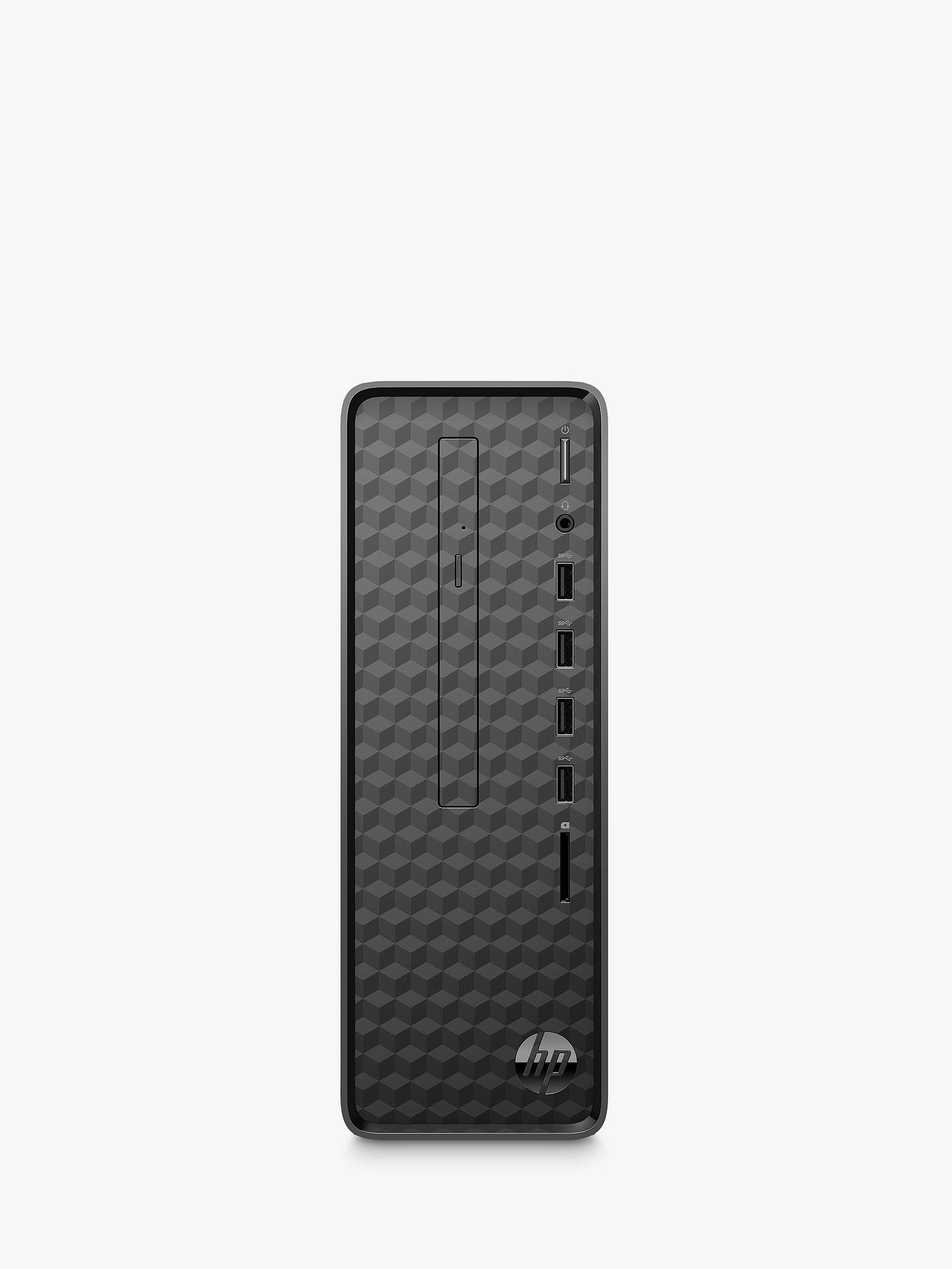 Buy HP Slim S01-aF0003na Desktop PC, Intel Celeron, 4GB RAM, 1TB HDD, Jet Black Online at johnlewis.com