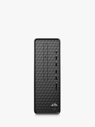 HP Slim S01-aF0003na Desktop PC, Intel Celeron, 4GB RAM, 1TB HDD, Jet Black