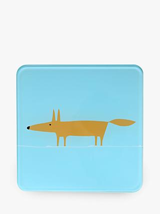 Scion Mr Fox Tempered Glass Trivet, Blue